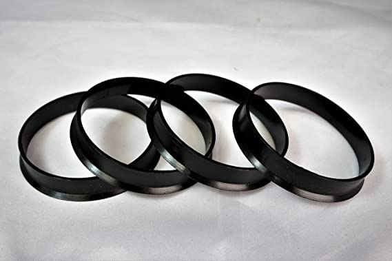 Customadeonly 4 Pieces Polycarbonate Hub Centric Rings 66.56mm Wheel Bore to 57.1mm Factory Hub