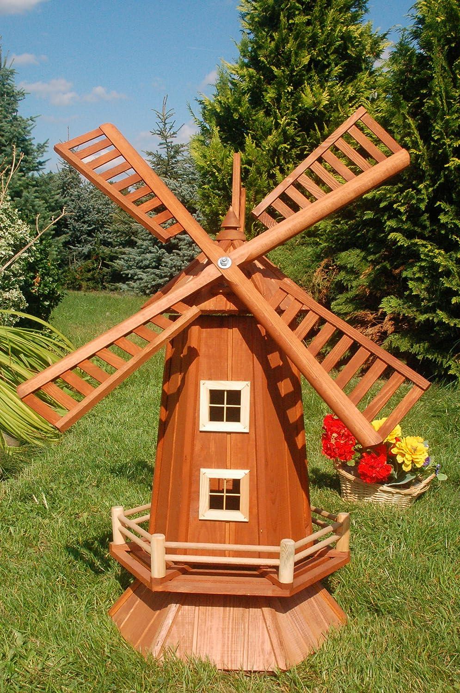 moulin a vent en bois pour jardin