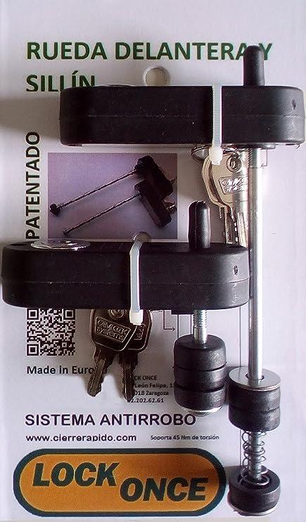 Lock Once Candado Antirrobo para Rueda Delantera y sillín de ...