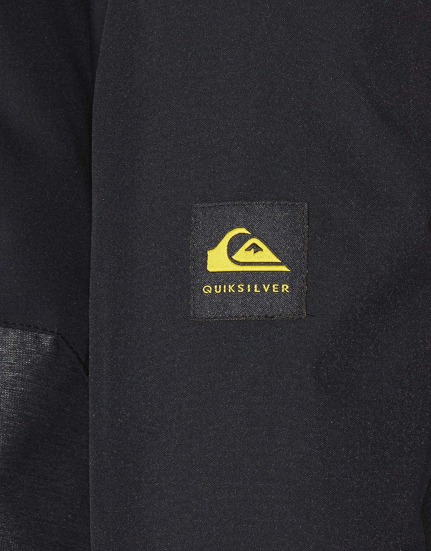 8//S Black Quiksilver Sierra-Chaqueta para Nieve para Chicos 8-16 Ni/ños