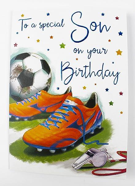 Tarjeta de felicitación de cumpleaños para hijo deseos de ...