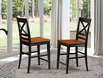 Peachy Quincy Counter Height Stools With X Back In Black Cherry Set Of 2 Cjindustries Chair Design For Home Cjindustriesco