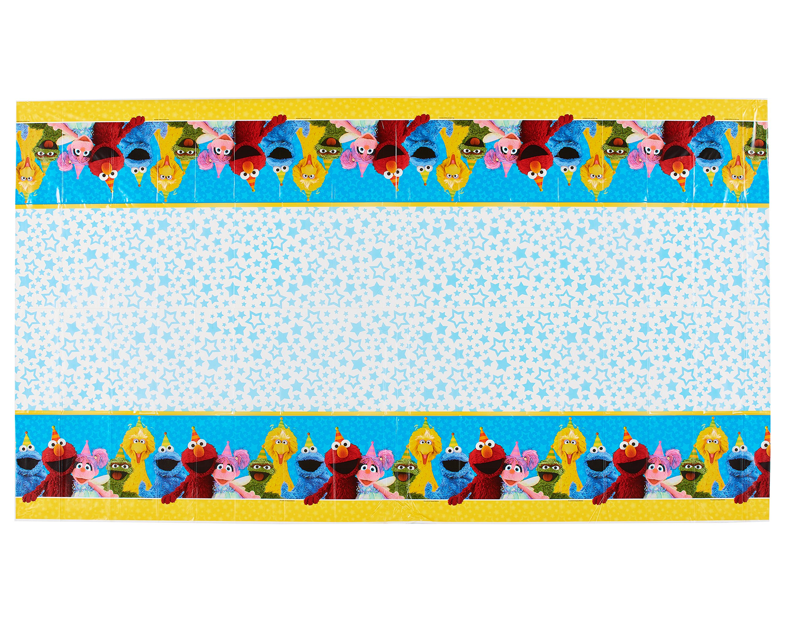 American Greetings Sesame Street 54'' x 96'' Plastic Table Cover