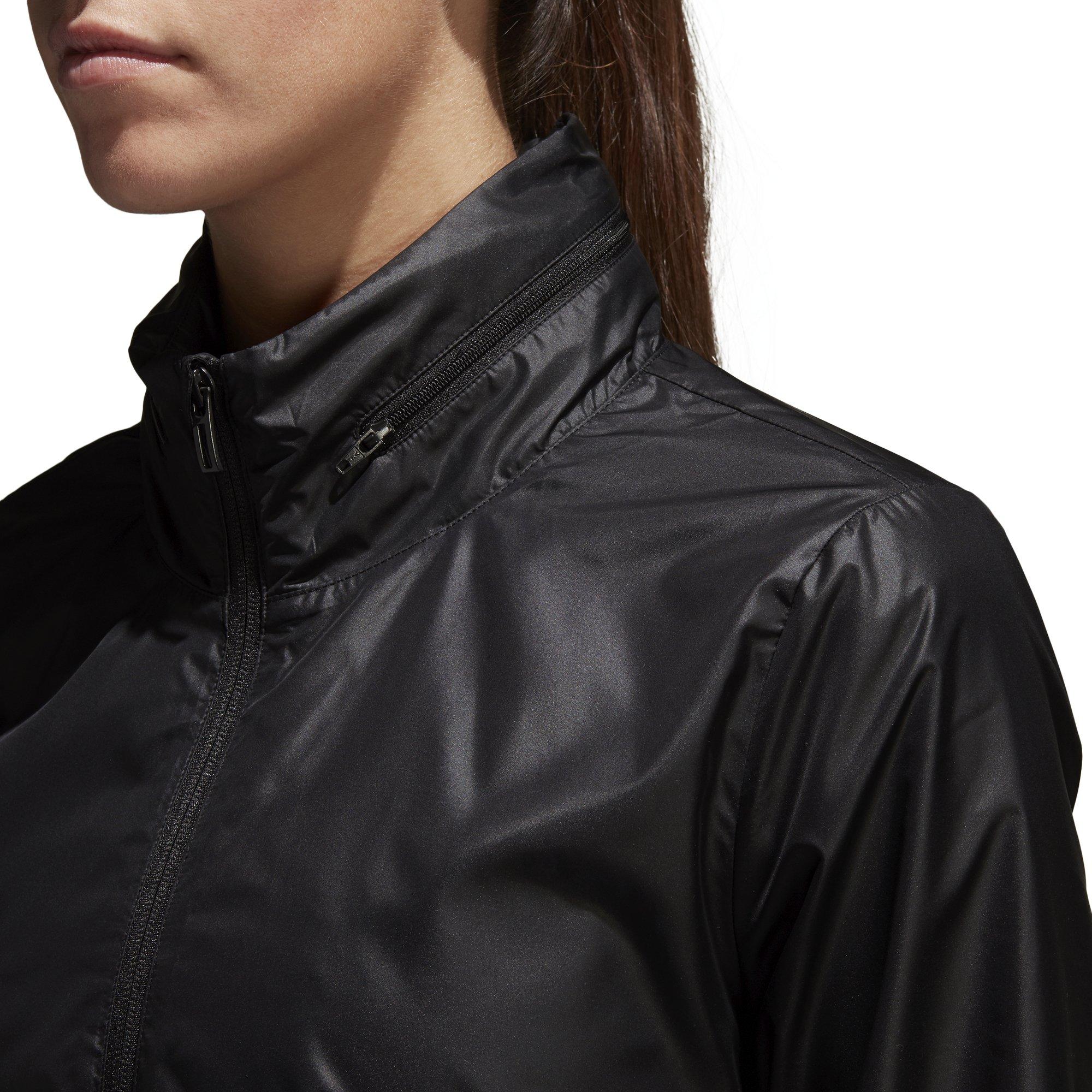 adidas Women's Linear Windbreaker Jacket, Black, Large by adidas (Image #8)