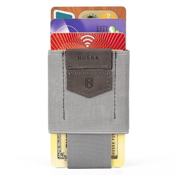 ... Cartera para hombre - Cartera delgada - Minimalista pequeña delgada Smart Card Holder Cartera - Gris - talla única: Amazon.es: Ropa y accesorios