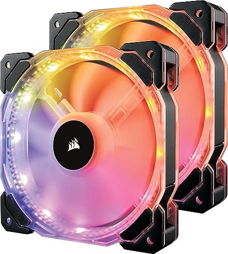 Corsair HD140 RGB - Ventilador de PC (140 mm, Iluminación a LED RGB Programable), Paquete Doble con Controlador de iluminación: Amazon.es: Informática