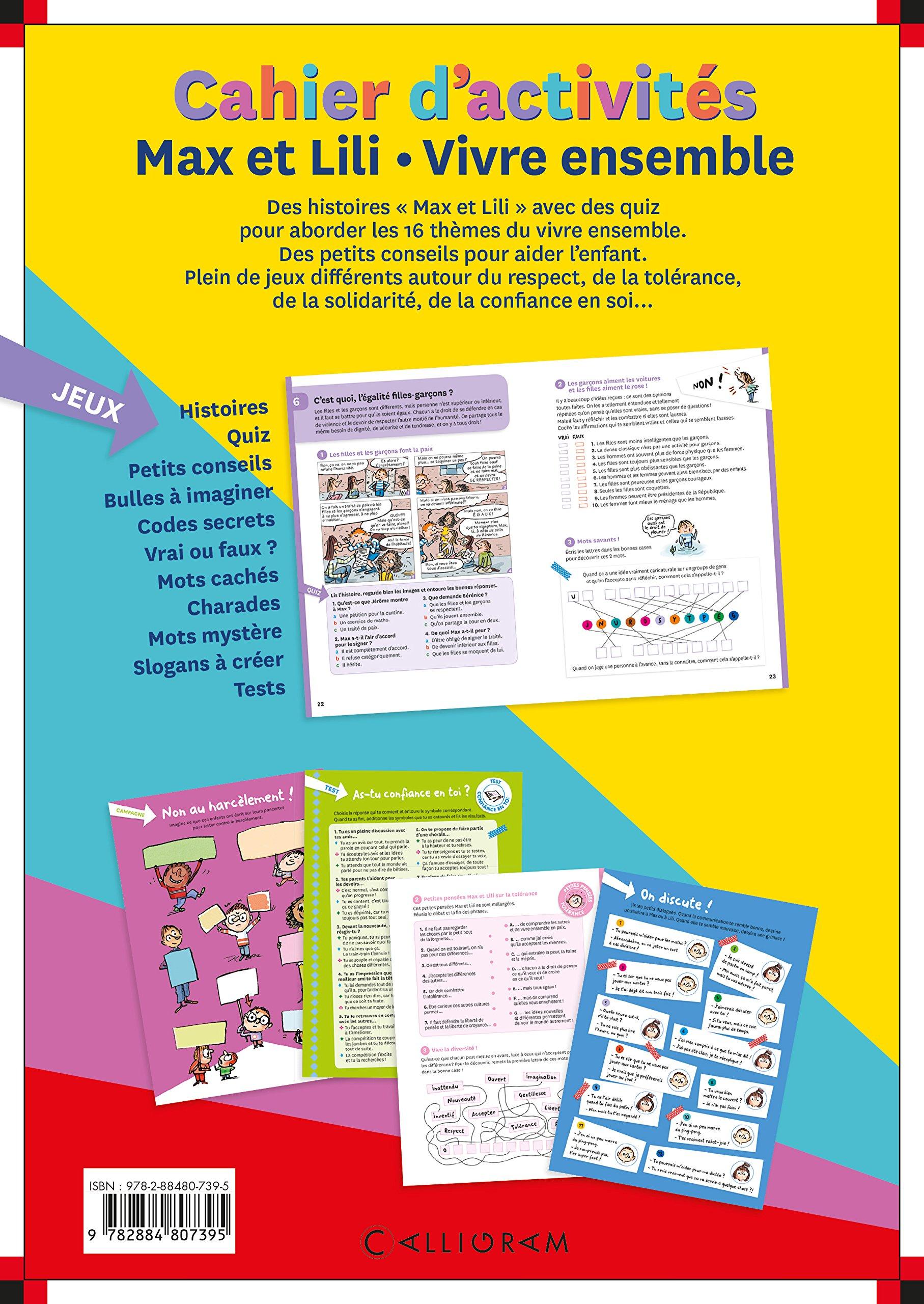 Beliebt Amazon.fr - Cahier d'activités Max et Lili - Vivre ensemble  SS05