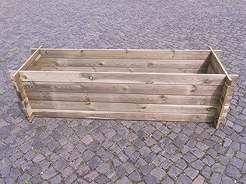 Estable madera Kom Póster compostador Compost Contenedor Bancal 195 x 65 x 51 cm 19 mm