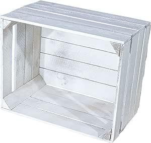 Juego de 4 Shabby Chic Vintage Caja de madera – Manzana Caja ...
