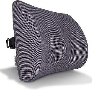Medipaq - Cojín De Apoyo Lumbar Ortopédico Con Malla De Memoria '3D' - Con Circulación De Aire - Reduce El Dolor De Espalda, Mejora La Postura [Versión Actualizada En 2018 - Ahora Con Correa Elástica Ajustable]