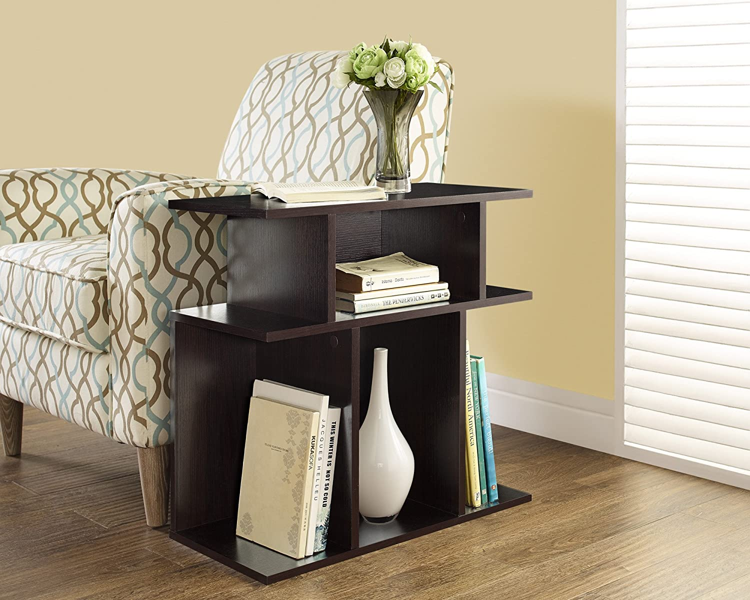 Amazon.com: Monarch Specialties Cappuccino Accent Side Table, 24 Inch:  Kitchen U0026 Dining