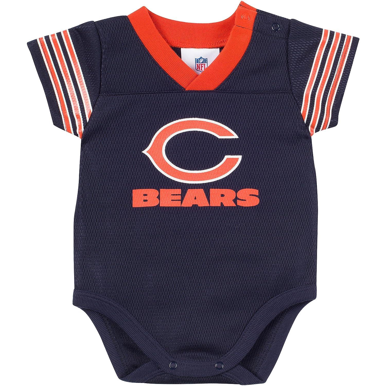 NFL Chicago Bears DazzleメッシュVネックボディスーツ、0 – 3 Months、ネイビー/オレンジ   B00ZYECXUC
