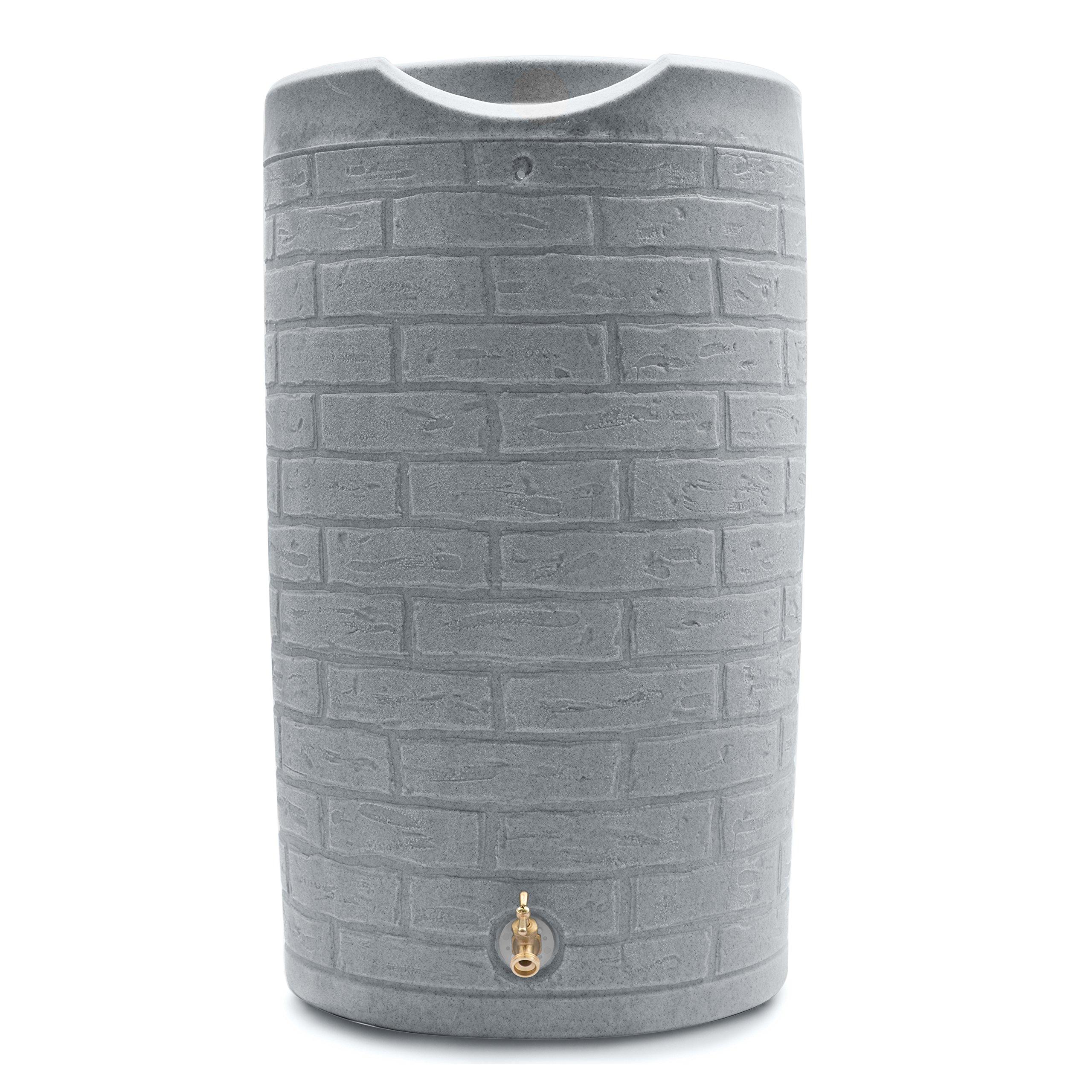 Good Ideas IMP-D50-SLA Impressions Downton Rain Saver Rain Barrel, 50 gallon, Slate