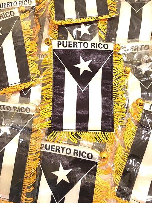 Banderas de Puerto Rico, 12 Unidades, Color Negro: Amazon.es ...