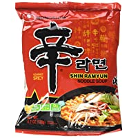 Nongshim Shin Ramyun Noodle Soup, Gourmet Spicy, 4.2 Ounce (Pack of 16)