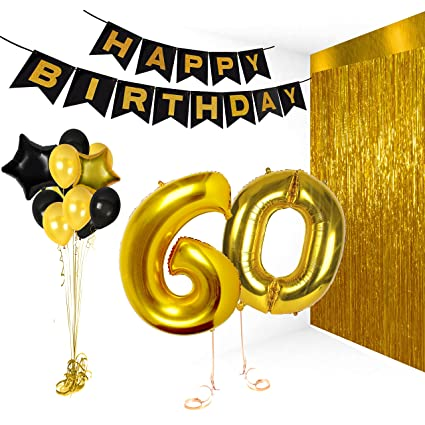 amazon com 60th birthday decorations happy bday banner party kit