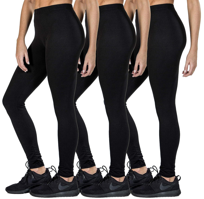 48f0a22d1ed9a Love Charm Women's Premium Super Soft Full Length Brushed Black Leggings at  Amazon Women's Clothing store: