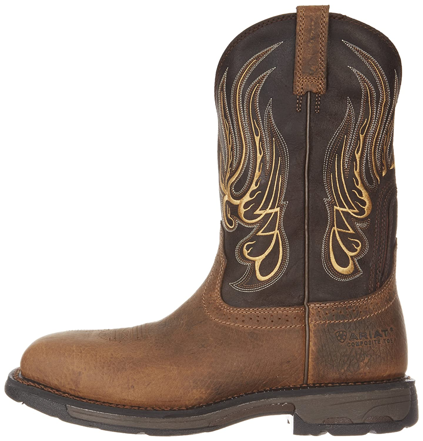 Ariat Workhog Mesteño II Cowboy Boot(Men's) -Rustic Brown/Stone Full Grain Leather New Arrival Cheap Price Sale Eastbay Discount Original Sneakernews Cheap Online Discount Cheapest DxaGGm9