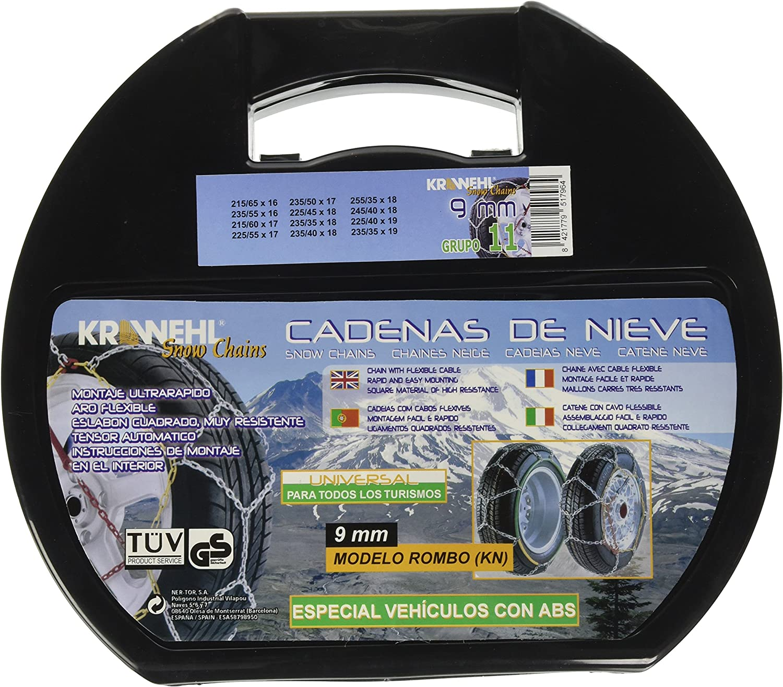 9mm Krawehl 3402.0011058 Catene da Neve Rombo Gruppo 8