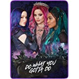 46 x 60 Multi Color Do What You Gotta Do Girls Micro Raschel Throw Blanket Disneys Descendants 3