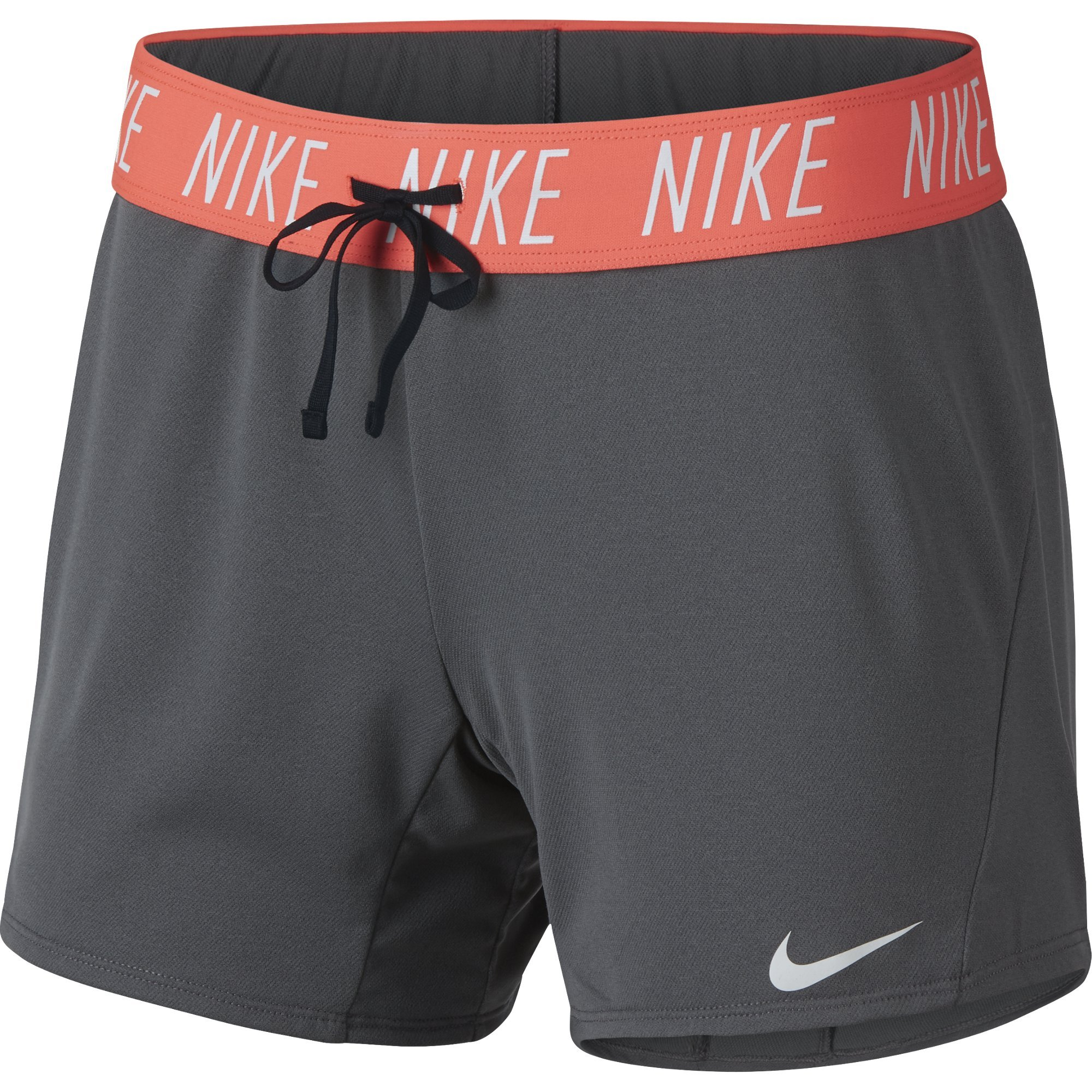 NIKE Women's Dry Short Attack Trainer 5, Dark Grey/White, XX-Large by Nike