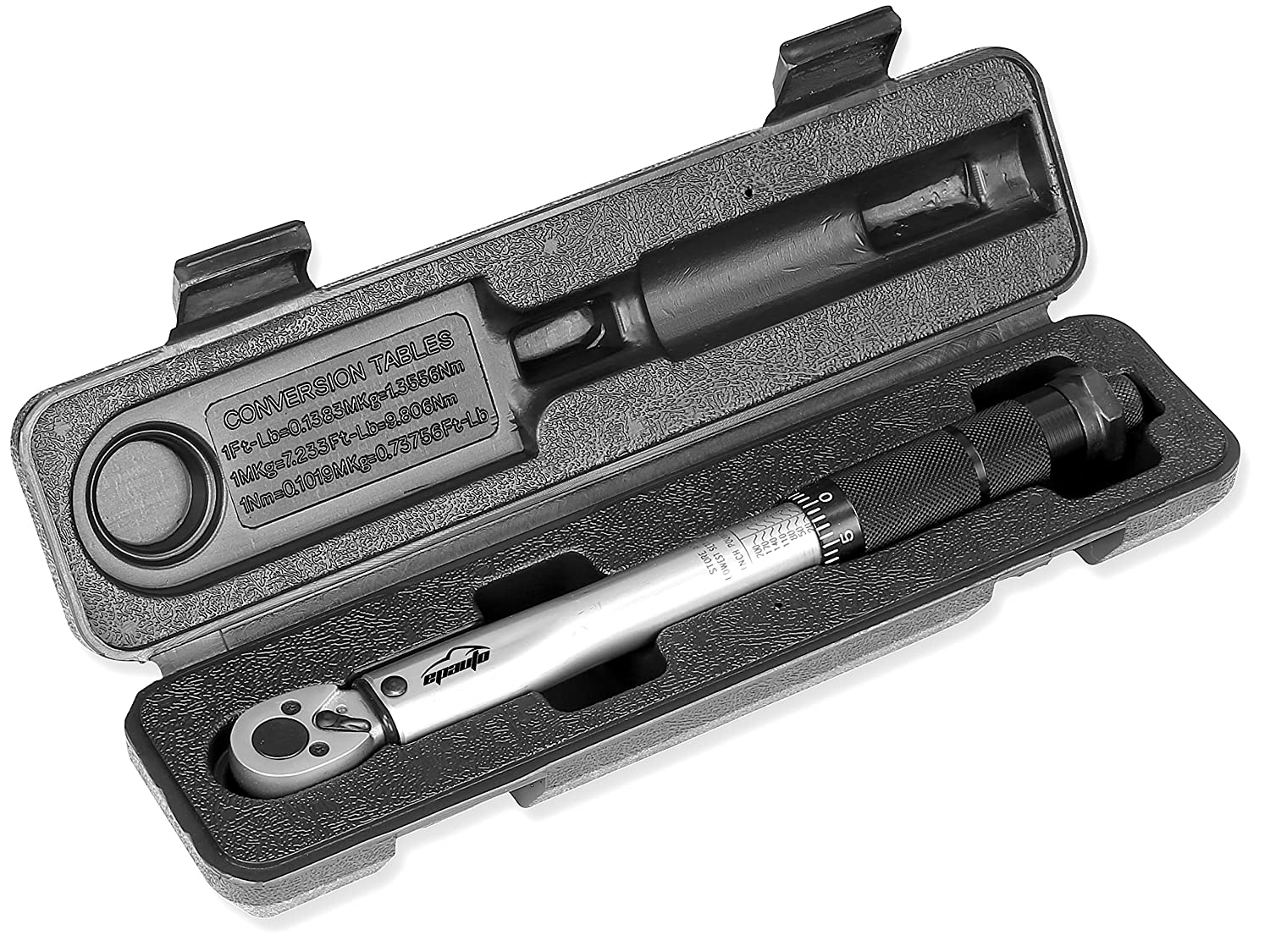 EPAuto 3/8. Inch Drive Click Torque Wrench 10 ~ 80 ft. /lb. 13.6 ~ 108.5 N/m ST-012-1