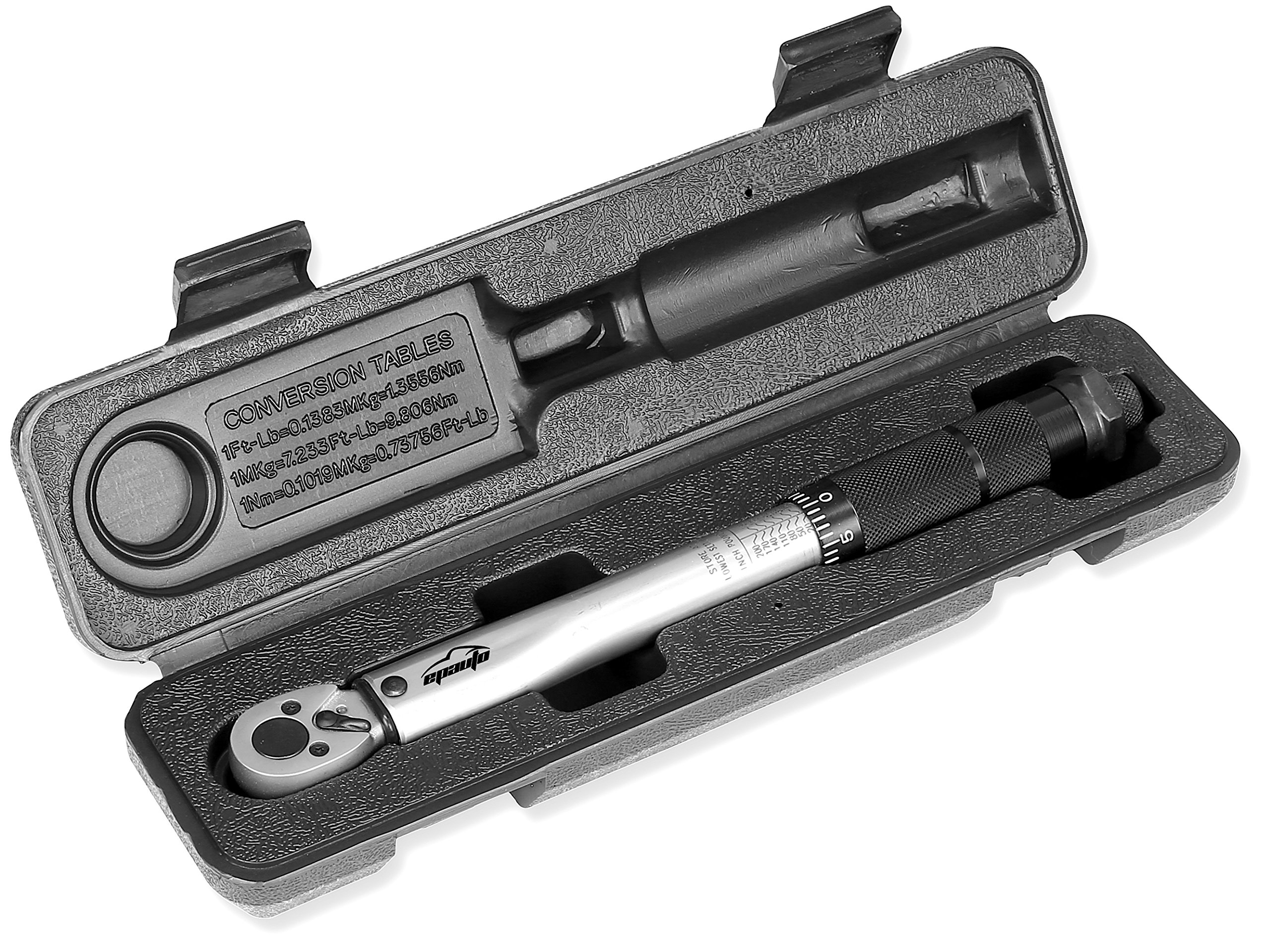 EPAuto 1/4-Inch Drive Click Torque Wrench (20-200 in.-lb. / 2.26~22.6 Nm)
