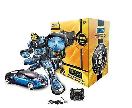 Turboz tt663 remote control changing robot car blue amazon turboz tt663 remote control changing robot car blue malvernweather Choice Image