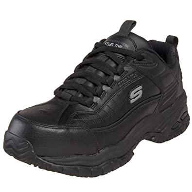skechers black shoes mens