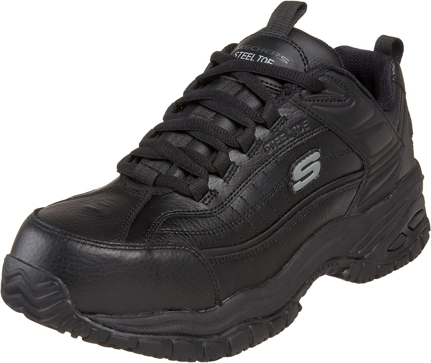 skechers slip on mens work shoes
