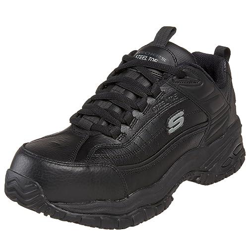 95a7ece9fba59 Skechers para trabajo para hombre suave Stride punta de acero zapatos de  trabajo  Amazon.com.mx  Ropa