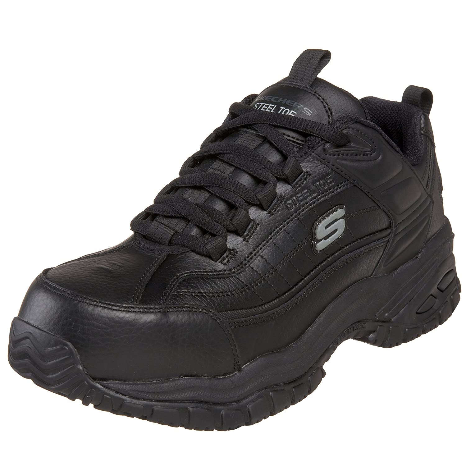 skechers for work men s soft stride steel toe work