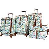 9f5701c191 Lily Bloom Luggage Set 4 Piece Suitcase Collection With Spinner Wheels For  Woman
