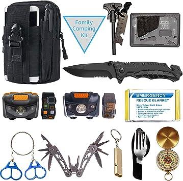 Amazon.com: Kit de emergencia de supervivencia – Equipo de ...