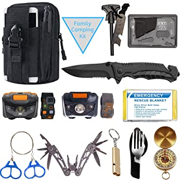 Amazon.com: Kit de emergencia de supervivencia – Equipo de ...