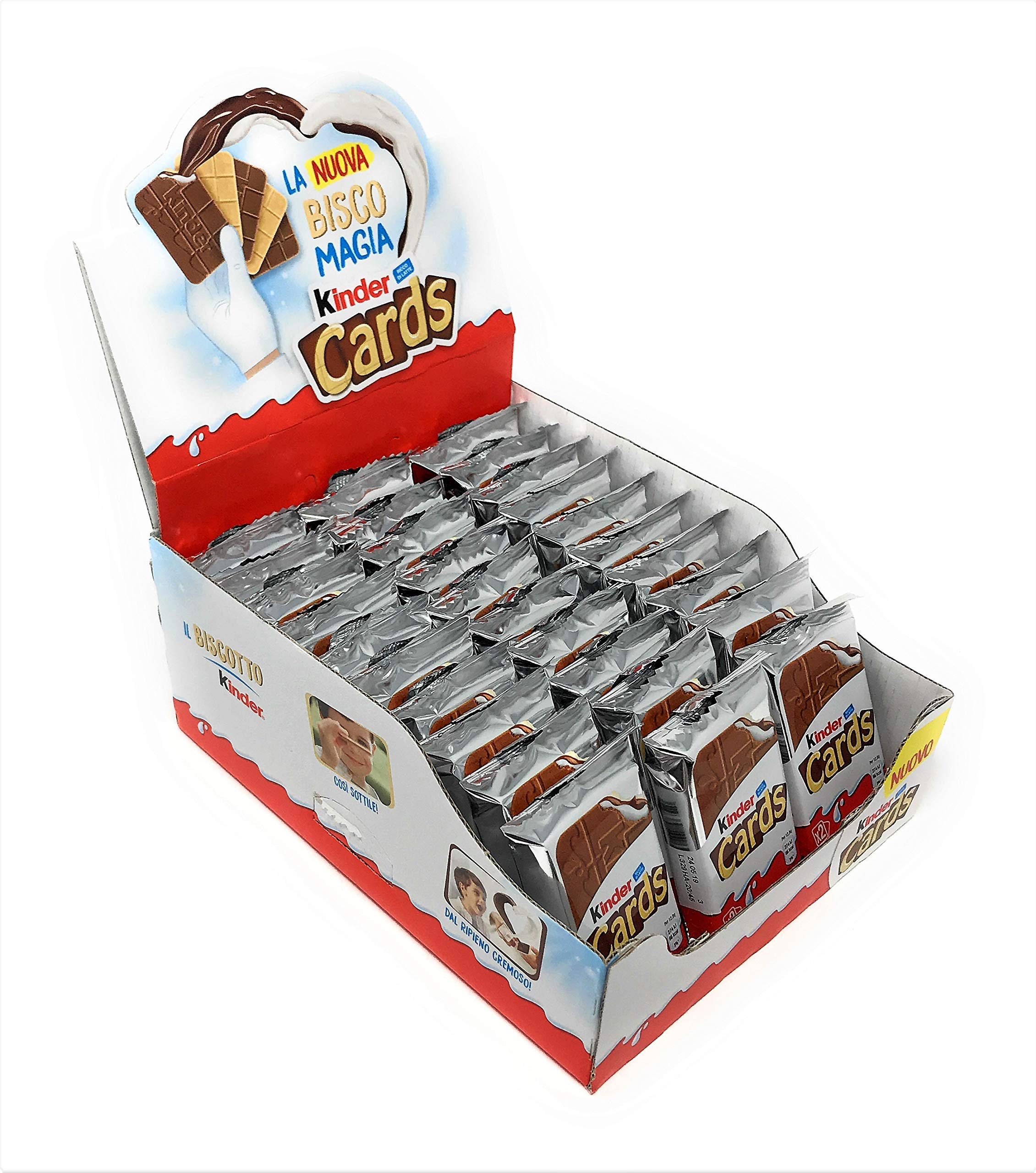 Kinder Cards Wafers with Milk and Cocoa Filling (60 Cards) by Kinder
