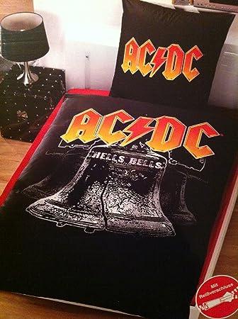 Acdc Bettwäsche Hells Bells 1 X Kopfkissenbezug 80 X 80 Cm Und 1