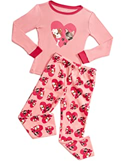 4596e39af Amazon.com  Girls Elephant Pajamas 100% Cotton Childrens Clothes Set ...