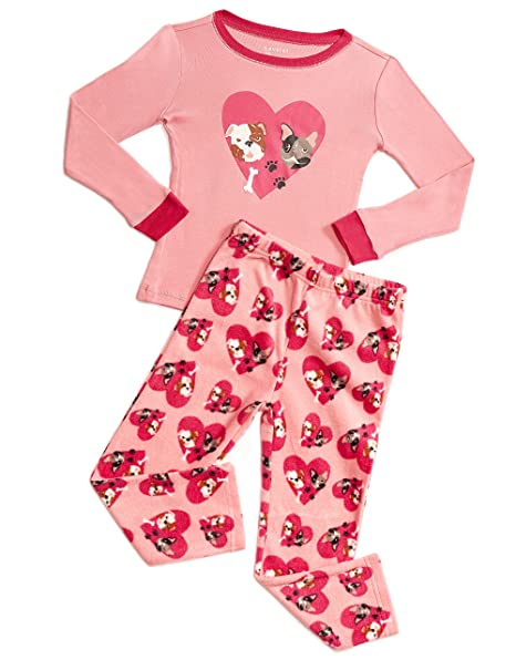 512127f66e Amazon.com  Leveret Kids   Toddler Pajamas Girls 2 Piece Pjs Set ...