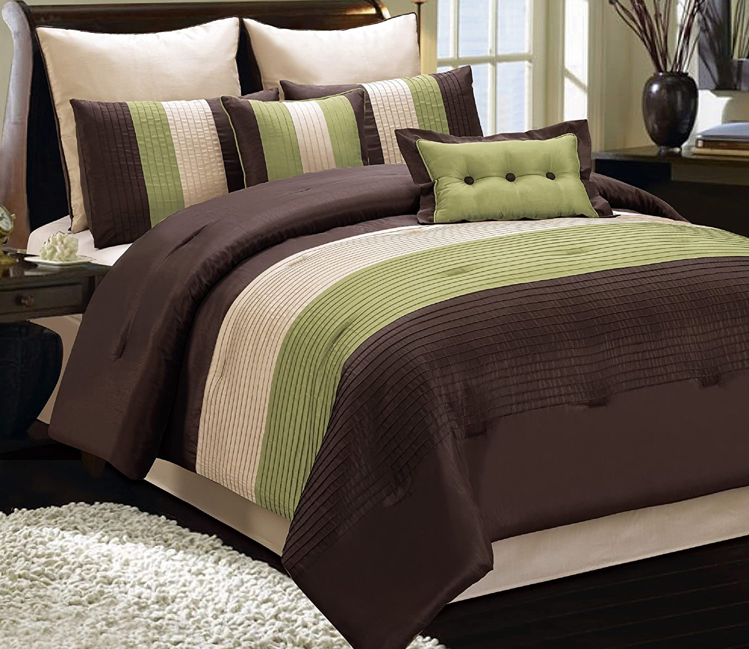 comforter alternative cotton twin solid green sage egyptian set xl