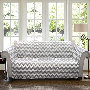 Amazoncom Lush Decor Chevron SlipcoverFurniture Protector for