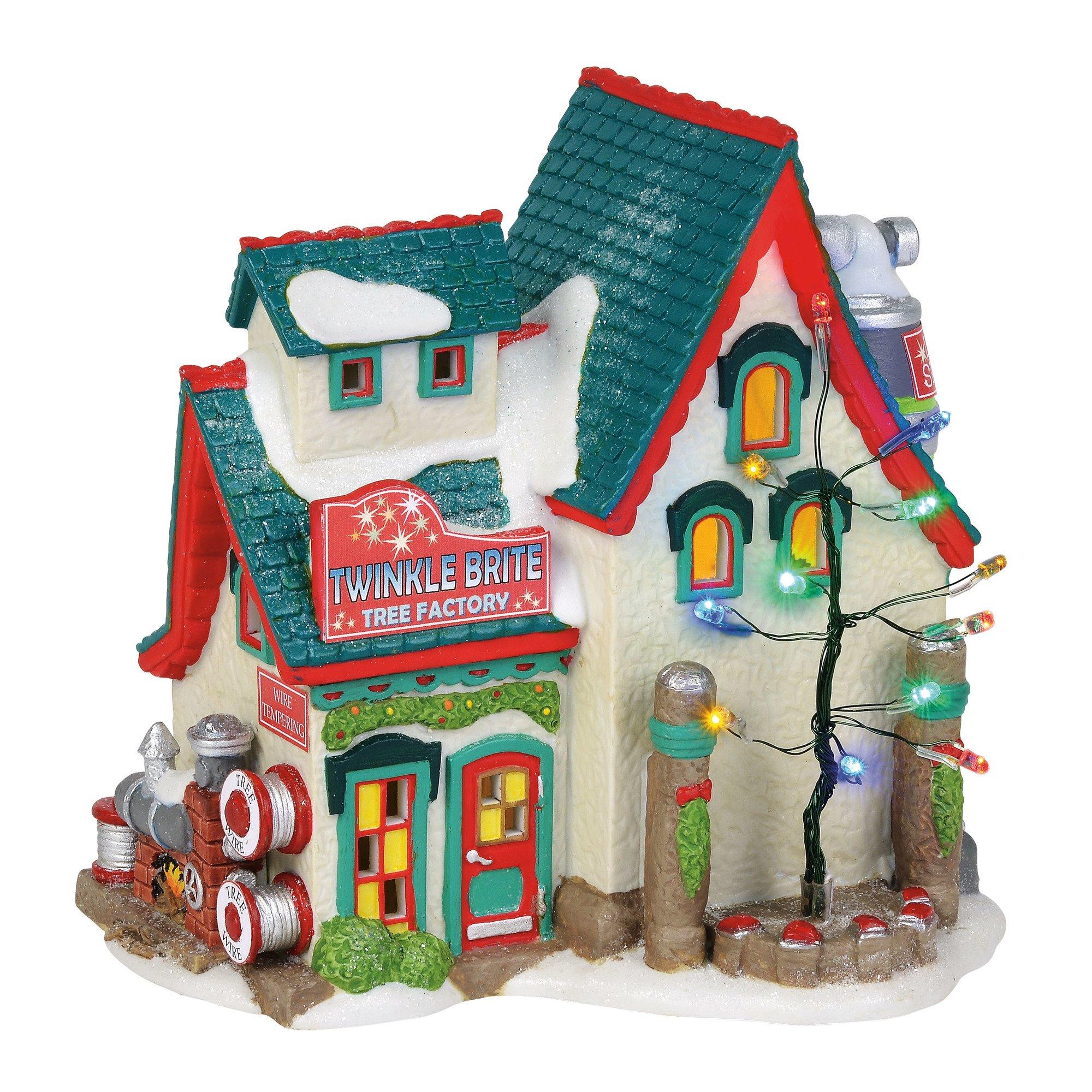 Department 56 North Pole Village Series Twinkle Brite Tree Factory Lit Building 6.25'' Multicolor