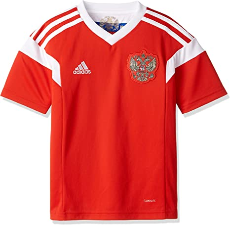 adidas Rusia Camiseta de Equipación, Niños: Amazon.es: Deportes y aire libre