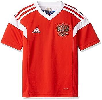Adidas Rusia Camiseta de Equipación, Niños, Rojo/Blanco, 140-9/