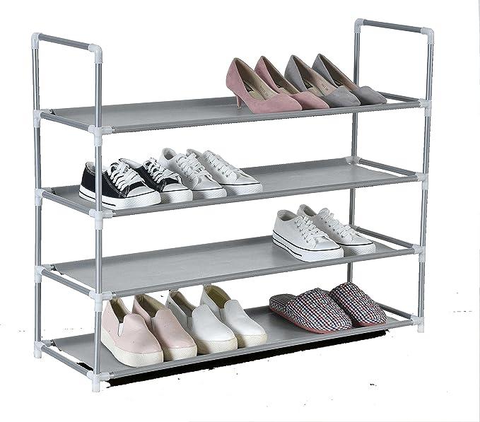 Iseaa Zapatero de 4 Niveles para 16 Pares de Zapatos extensibile 86x28x71,5 cm: Amazon.es: Hogar
