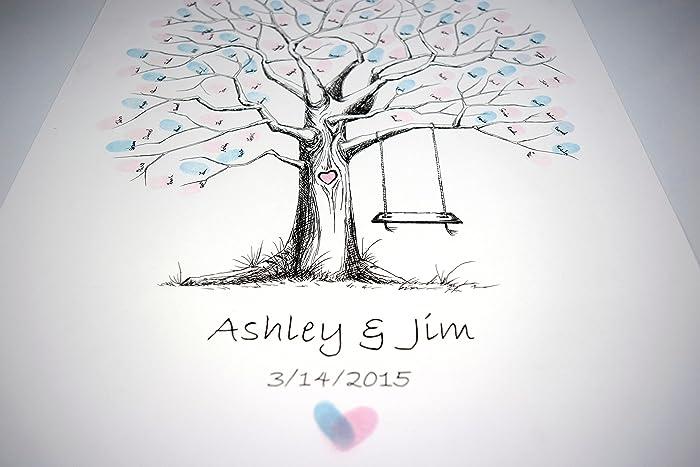 Amazon.com: Fingerprint Tree custom wedding guestbook - Original ...