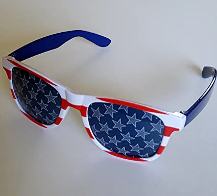 ac229ad7b192f Unapologetically Patriotic Party American Flag Sunglasses. Wayfarer style  stars and stripes glasses a must for