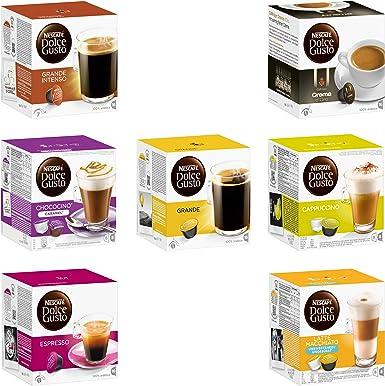 Nescafé Dolce Gusto Dolce Gusto Hámster Compra Set, Emergencia vorrats Pack, Cápsulas de Café, 7 Tipos, Café ...