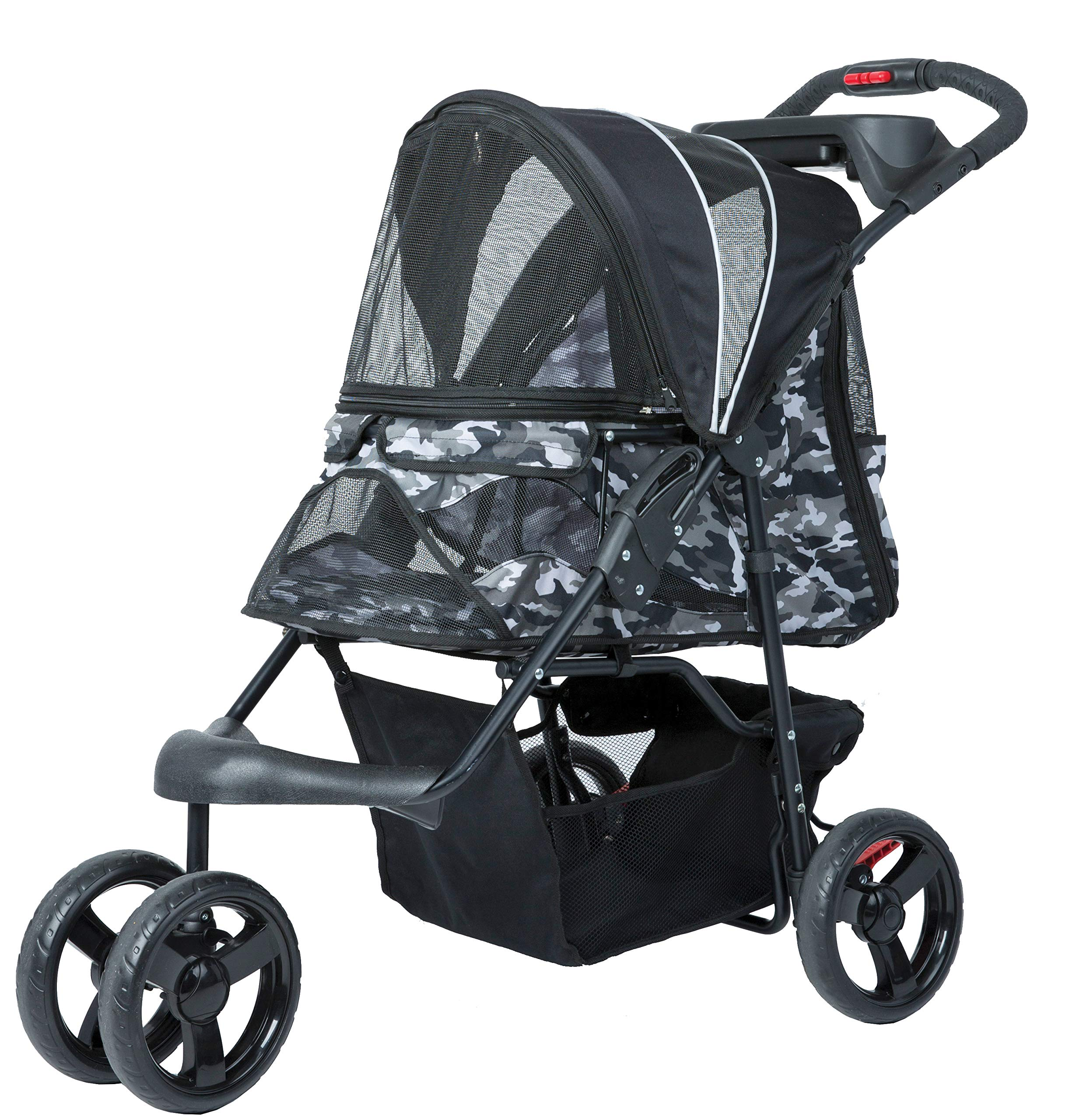 Petique Pet Stroller, Black Camo, One Size by Petique