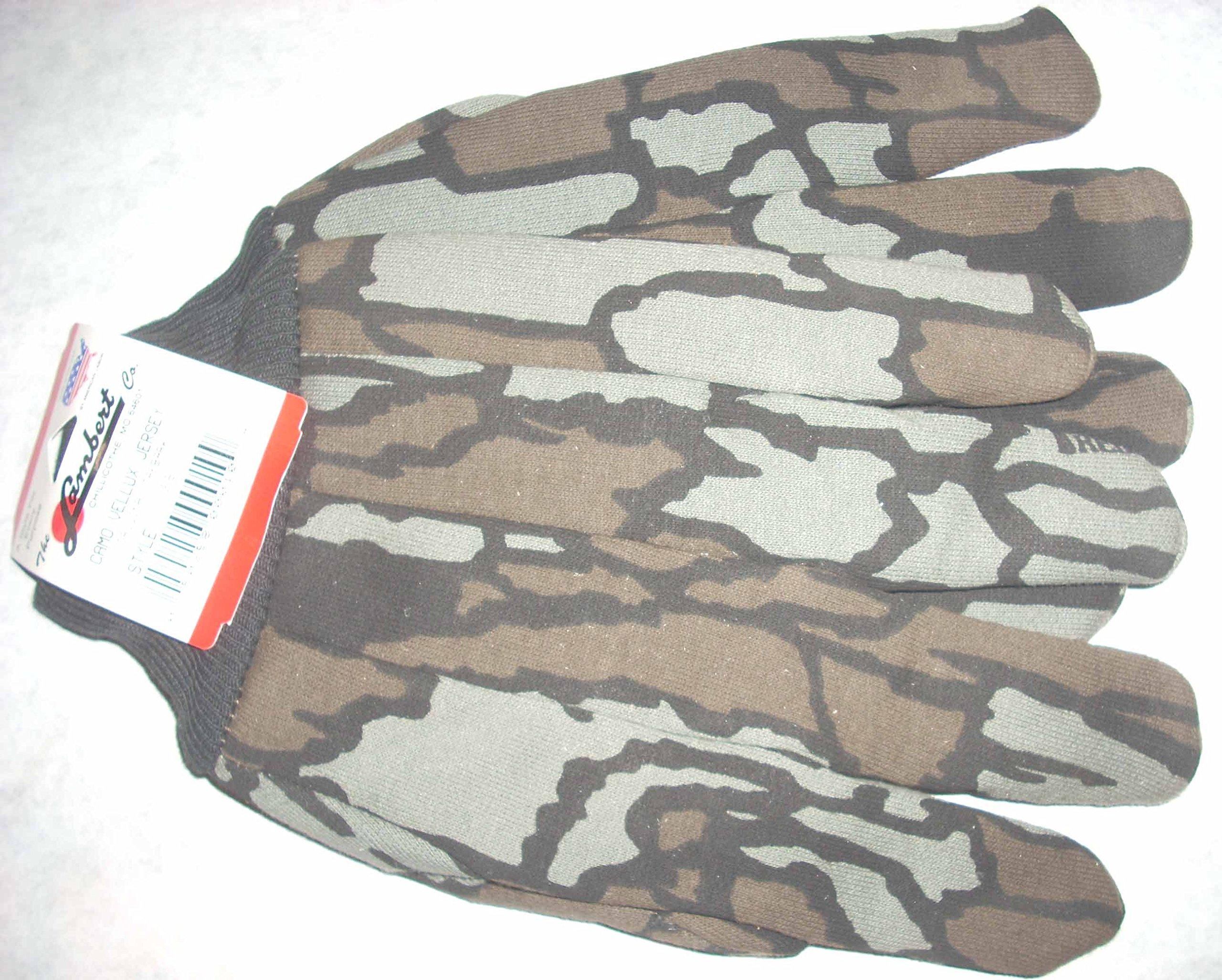 Lambert 28V Treback Camoflage Gloves Camo Vellux Jersey w Knit Wrist